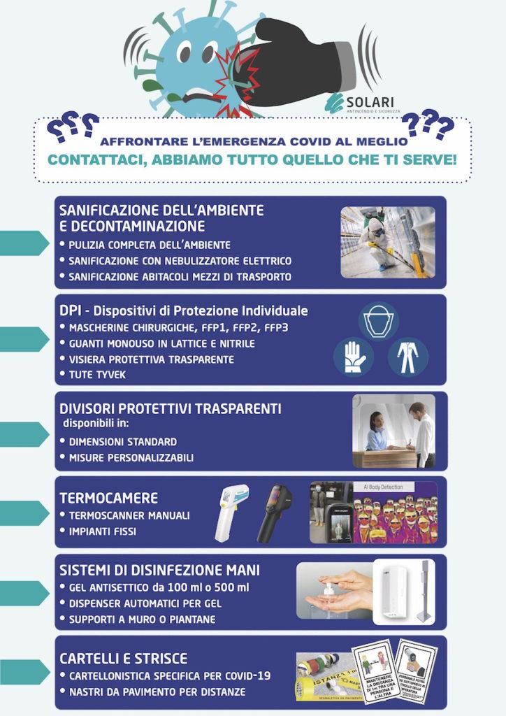 Prodotti e servizi per l'emergenza covid-19-dispositivi di protezione, termoscanner, barriere protettive, gel  igienizzante